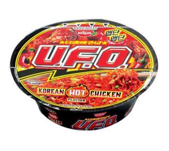 NISSIN UFO KOREAN HOT CHICKEN 99g / OSAKA TAKOYAKI 97g / SINGAPORA BLACK PEPPER CRAB 94g