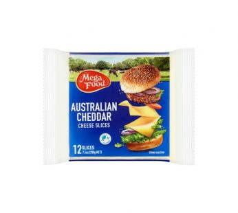 MEGA FOOD CHEDDAR CHEESE SLICES 200g x 12's