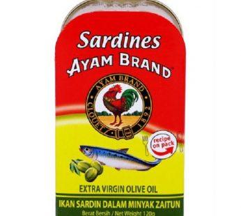 AYAM BRAND SARDINES EXTRA VIRGIN OLIVE OIL 120g