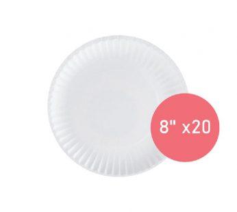 "HANA PAPER PLATES 8"" X20"